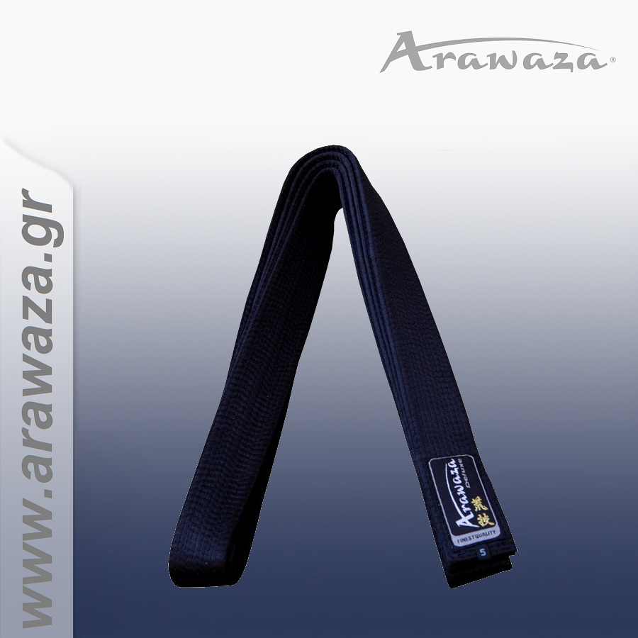 Arawaza Black Belts Pure Silk